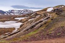 Lawowe osuwisko w górach Fjallabaku
