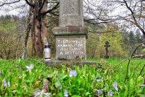 Łemkowski nagrobek na cmentarzu w Nieznajowej