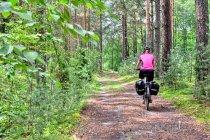 Leśna odnoga rowerowego szlaku