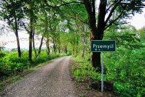 Leśny wjazd do Przemyśla