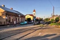 Linia kolejowa w centrum - podobno ewenement w Rumunii