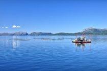 Łososiowa farma na wodach Sognefjordu