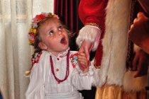 Mała uczestniczka święta w Sołońcu