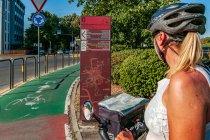 Mapa dróg rowerowych Parmy