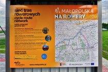 Mapa małopolskiej sieci tras rowerowych