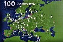 Mapa połączeń Air Baltic