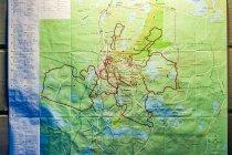 Mapa tras biegowych dookoła Ruki