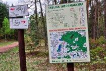 Mapa tras rowerowych gminy Nędza
