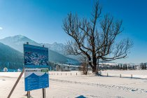 Mapa trasy narciarskiej w Austrii