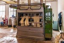 Maszyna odpowiadająca za powstawanie filcu wełnianego