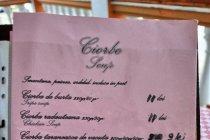 Menu z ciorbami z Ciocanesti