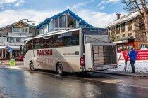 Miejsce na narty w miejskich autobusach w Ramsau