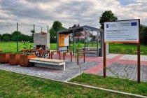 Miejsce odpoczynku rowerzystów w Ispinie