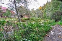 Most na drodze rowerowej w Oszczadnicy