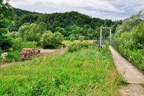 Most wiszący nad Wisłoką w Myscowej