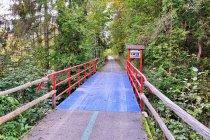 Mostek na trasie dla rowerów na Słowacji