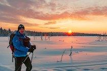 Na biegówkach w północnej Finlandii