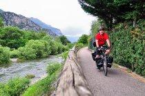Na drodze rowerowej w Val di Sarca
