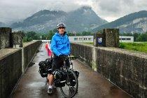 Na moście granicznym pomiędzy Szwajcarią i Liechtensteinem