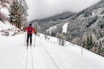 Na narciarskiej trasie biegowej Hierzeggloipe