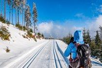 Na narciarskiej trasie pod Śnieżnikiem