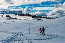 Na narciarskiej trasie w Dolomitach