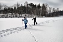 Na nartach biegowych po Jeziorze Potęgowskim