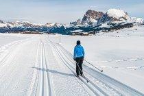 Na nartach biegowych w Południowym Tyrolu