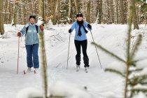 Na nartach przez Lasy Mirachowskie