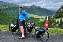 Na podjeździe pod przełęcz Pass dal Fuorn