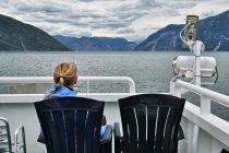 Na pokładzie promu na Sognefjordzie