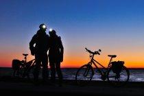Na rowerach po zimowym Helu