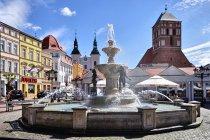 Na rynku w Chojnicach