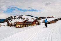 Na trasie biegowej na Alpe di Siusi - Seiser Alm