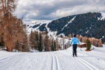 Na trasie narciarskiej w stronę Compatsch