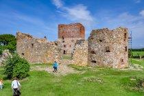 Na zamku Hammershus