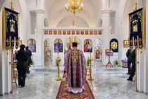 Nabożeństwo w nowej cerkwi w Bielance