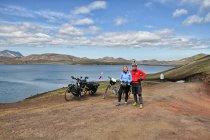 Nad jeziorem Frostastaðavatn