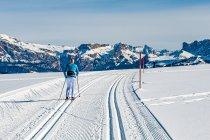Narciarka biegowa w Dolomitach