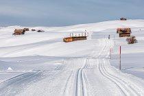 Narciarska trasa biegowa w Dolomitach