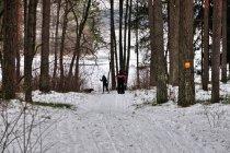 Narciarze na żółtej trasie koło Wiartla
