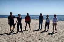Nasza rowerowa ekipa na plaży w Helu
