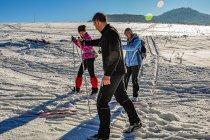 Nauka jazdy na nartach biegowych