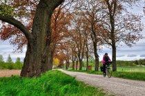 Niemcy na rowerze przed Perlebergiem