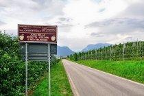 Obszar uprawy jabłek złota reneta w Val di Non