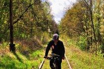 Odcinek po torach kolejowych