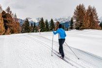 Ola na biegówkach na Alpe di Siusi