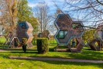 Oryginalne domki schroniska młodzieżowego koło Wismaru