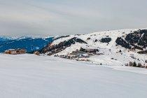 Ośrodek narciarski w Compatsch w Dolomitach