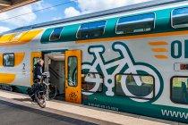 Oznaczenie przedziału rowerowego na pociągu ODEG